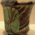 Grasshopper, vase
