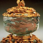 Gold and brown vase