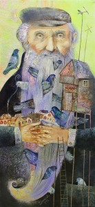 Pigeon Fancier. Painting by Belarusian artist Anna Silivonchik