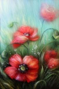Wool painting by Yana Bogdanova wool painting