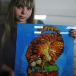 Young Russian artist Anastasia Volkova