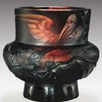 Antique Vase by Art Nouveau Glass maker Emile Galle