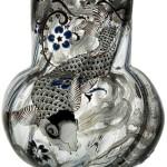 Fish. Vase by Art Nouveau Glass maker Emile Gall