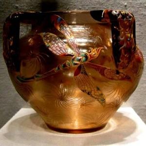 Dragonfly. Vase