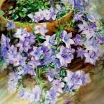 Petunia. Watercolor painting by Turkish artist Rukiye Garip