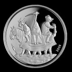 2009 coin depicting fairy-tale animals. Collectible coins issued by the Bank of Latvia