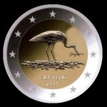 2015 collectible coin issued by the Bank of Latvia