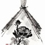 black ink painting