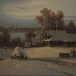 Painting winter Dmitry Kolpashnikov