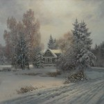Painting winter Dmitry Kolpashnikov
