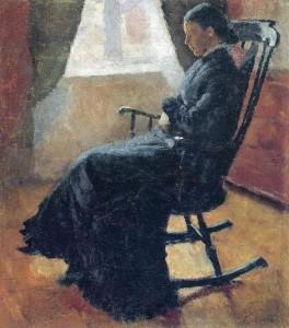 Aunt Karen in a rocking chair 1883
