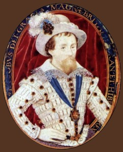 James I, 1603-1609. Nicholas Hilliard portrait miniature