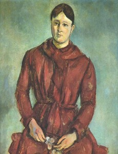 Madame Cezanne in a Red Dress c. 1890-1894 Sao Paulo Museum of Art