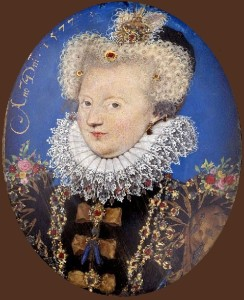 Marguerite de Navarre, 1577. Nicholas Hilliard portrait miniature