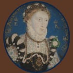 Elizabeth I, 1572. Nicholas Hilliard portrait miniature