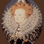 Portrait of Elizabeth I, Queen of England. Nicholas Hilliard portrait miniature