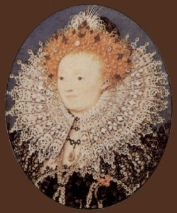 Portrait of Elizabeth I, Queen of England. Nicholas Hilliard portrait miniature