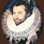 Sir Walter Raleigh, 1585. Nicholas Hilliard portrait miniature