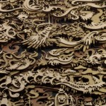 Laser cut layered illustrations by Martin Tomsky