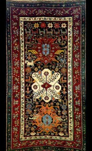 XIX century Armenian carpet. the Yerevan school of carpet