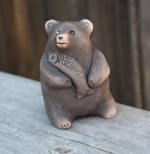 Bear with fish. Ocarina