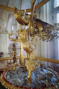 Hermitage Peacock Clock