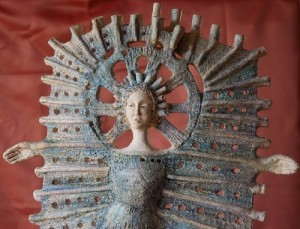 Unearthly creature handmade by ceramic artist Marta Wasilczyk