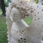 Closeup of ceramic sculpture by Marta Wasilczyk