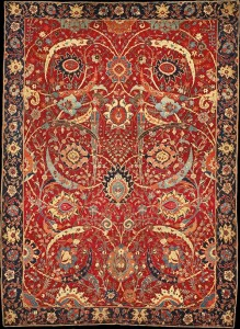 The Clark Safavid Sickle Leaf, vine scroll and palmette carpet, probably Kirman, Southeast Iran, first half 17th century, Shah Abbas Period. William A. Clark Collection