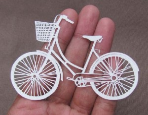 Bicycle. Papercut art by Parth Kothekar