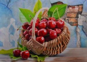 Cherry, Prismacolor Premier pencils