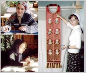 Craftswomen of Gold embroidery workshop Ubrus