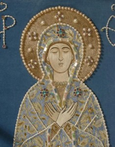 Detail of Godmother shroud for the church of Alexander Nevsky