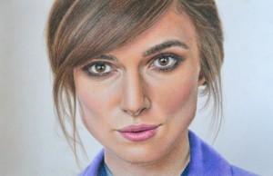 Keira Knightley, pencil drawing by Yekaterina Putyatina
