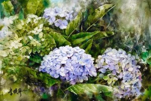 Watercolor painting by talented Chinese artist Hsiao-Lin Lee
