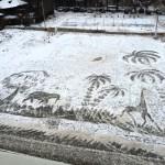 Snow painting by Semyon Bukharin