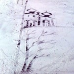 Landscape with churches. One-of-a-kind snow art by school janitor Semyon Bukharin, Izhevsk, Russia