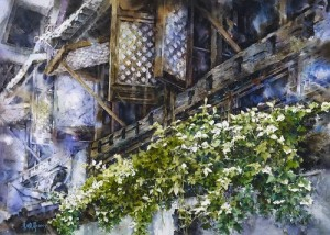 Watercolor painting by Chinese artist Hsiao-Lin Lee