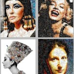 Nikolai Svyatitsky Photomosaic portraits