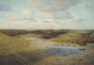 Izborsk valley. 1989. Oil on canvas