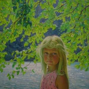 Portrait of artist's daughter