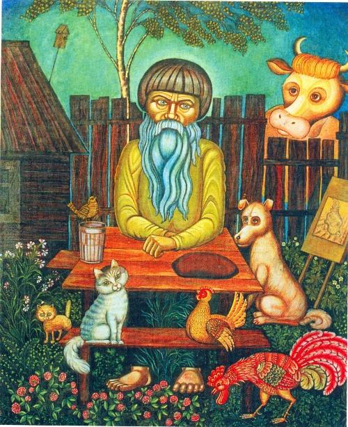 Russian naive artist Ivan Selivanov. Painting by Albertina ...