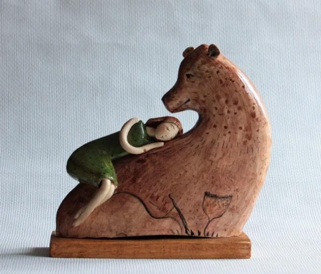 Dream, clay miniature sculpture