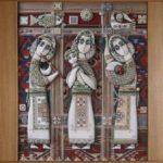Parchment paper art ladies