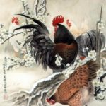 Symbolic Rooster Chinese painting