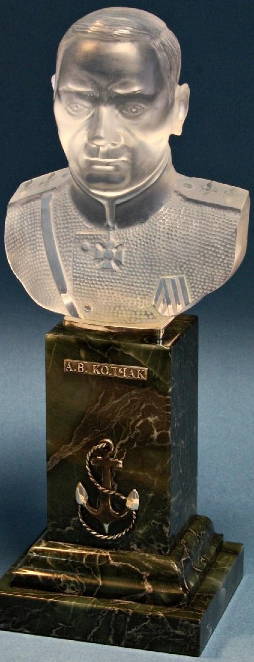 Admiral Kolchak. jasper, quartz, silver