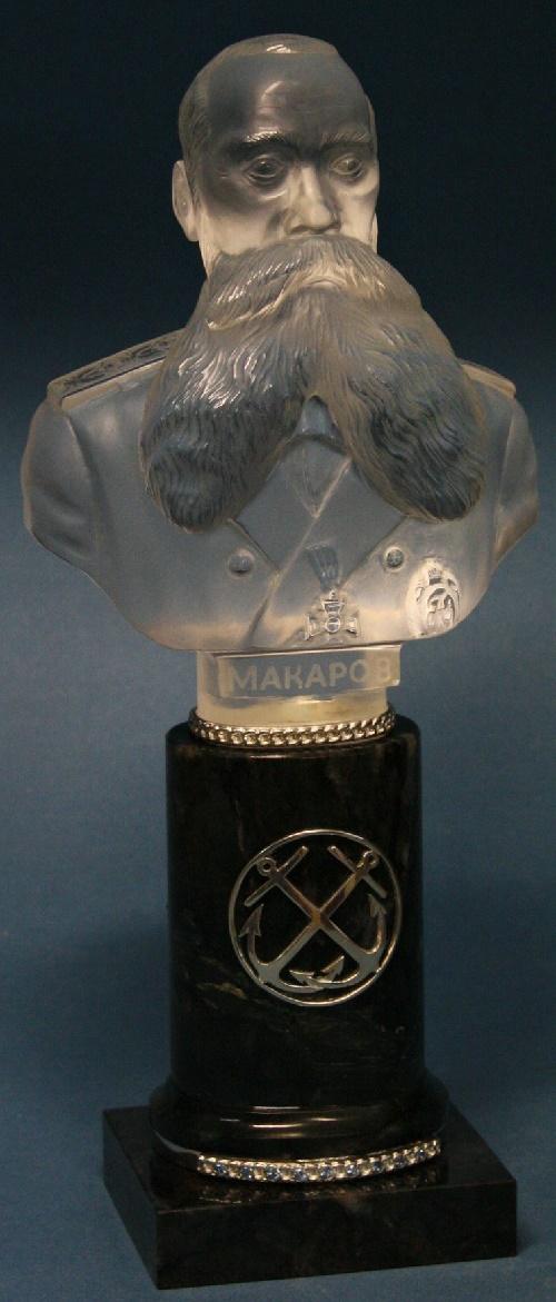 Admiral Makarov. Quartz, jasper, silver. Metalcraft - E. Eremin