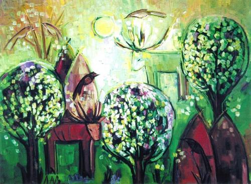 Blooming bird-cherry. 2003