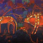 Caravan of centuries. Canvas, oil. 1997
