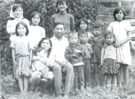 Children of the Village Anzass. Arbachakova left in the front row
